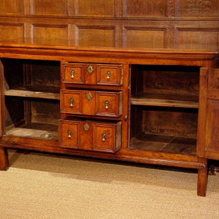 Very Rare 17th Century Fruitwood Dresser Base