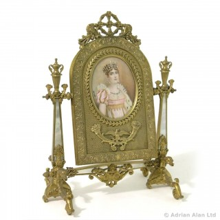Palais Royal Gilt-Bronze and Mother of Pearl Toilet Mirror