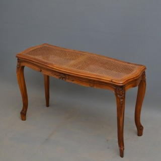 Turn of the Century Walnut Window Seat