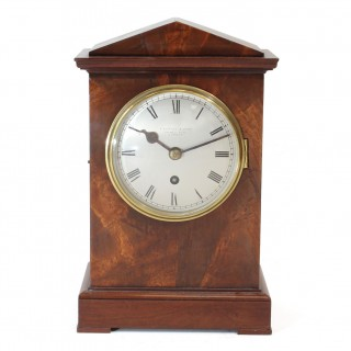 English Fusee Bracket clock, or Officers' Mess clock