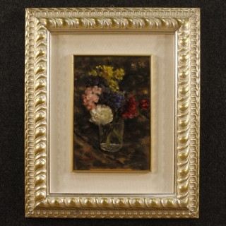 Italian Still Life Painting Signed And Dated 1943