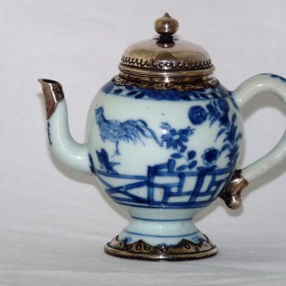 Chinese Early 18th Century Blue and White Porcelain Ewer