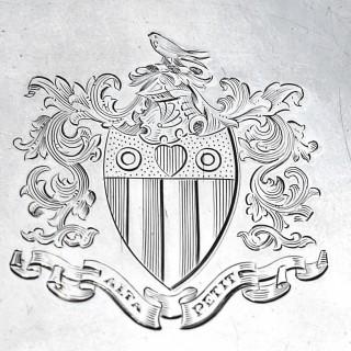 George III Silver Salver by Hester Bateman