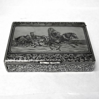 Antique Russian Silver Box by Faberge