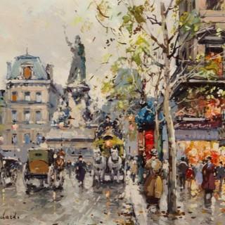 Antoine Blanchard.  Place de la République