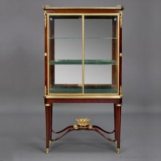 Louis XVI Style Mahogany Vitrine