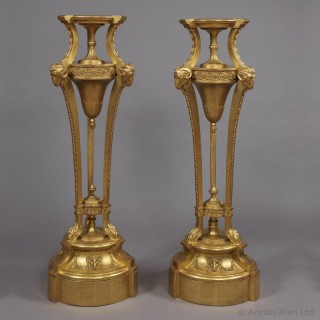 Giltwood and Gesso Pedestals