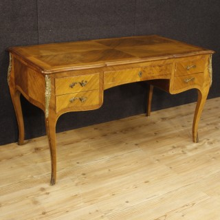 20th Century French Inlaid Writing Desk In Louis XV Style