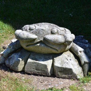 A large late 20th century Italian carved limestone crab