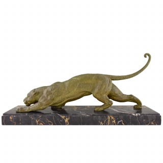French Art Deco panther sculpture.
