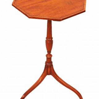 Antique Georgian Satinwood Octagonal Wine Table
