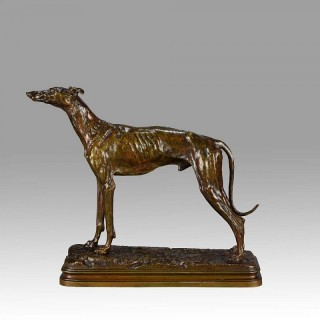 Standing Greyhound - Lévrier Debout - Animaliers Bronze