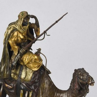 Vienna Bronze Arab Warrior on Camel