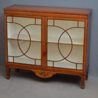 Georgian Satinwood Display Cabinet