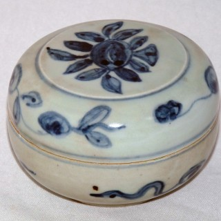 Ming Blue and White Porcelain Lidded Box