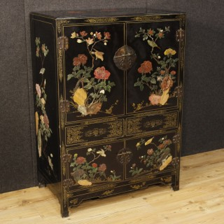 20th Century French Lacquered Chinoiserie Cupboard