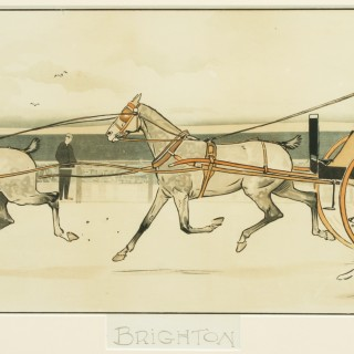 Brighton, Cecil Aldin Coaching Picture