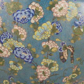 Antique large cloisonné enamel jardinière attributed to Barbedienne