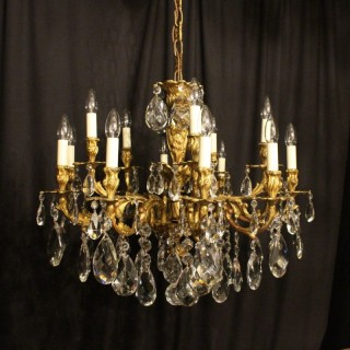 Italian Gilded Bronze Antique Chandelier