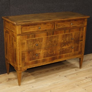 20th Century Italian Inlaid Chest Of Drawers In Louis XVI Style
