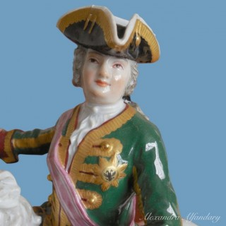 A Meissen Porcelain Group Of The Russian Empress Elisabeth Petrovna On Horseback