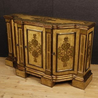 20th Century Italian Buffet In Lacquered And Golden Wood