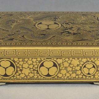 A FINE QUALITY JAPANESE IRON BOX BY THE KOMAI COMPANY OF KYOTO