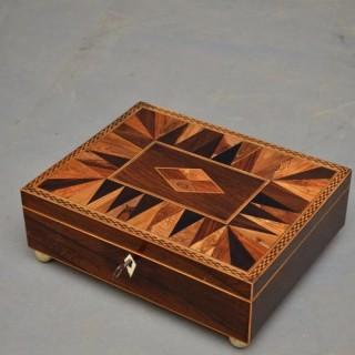 Regency Rosewood Jewellery Box with Tray