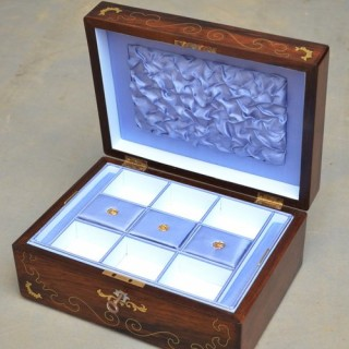 Victorian Rosewood Jewellery Box with Tray
