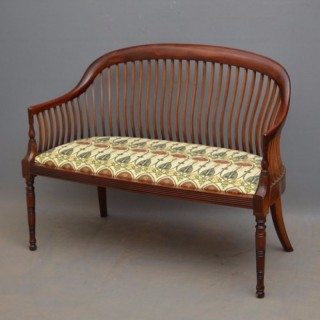 Arts and Crafts Mahogany Sofa