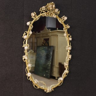20th Century Italian Lacquered And Painted Mirror