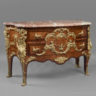 Transitional Style Gilt-Bronze Mounted Sculptural Commode