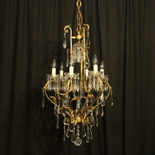 French Birdcage 7 Light Antique Chandelier