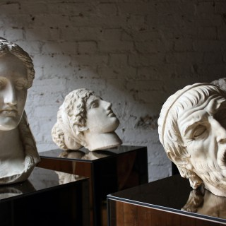 A Highly Decorative Group Of Five 20thC Plaster Classical Portrait Head Studies