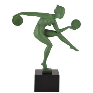 French Art Deco sculpture of a dancer