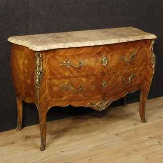 20th Century French Inlaid Chest Of Drawers In Louis XV Style