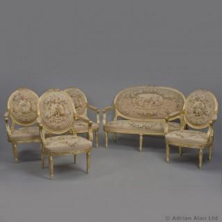 Five Piece Louis XVI Style Salon Suite