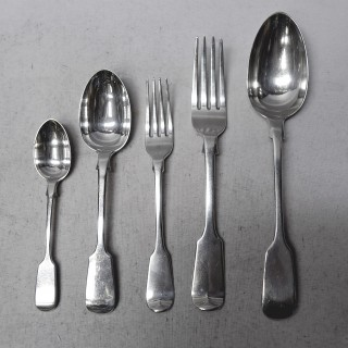 Antique Silver Cutlery for 8