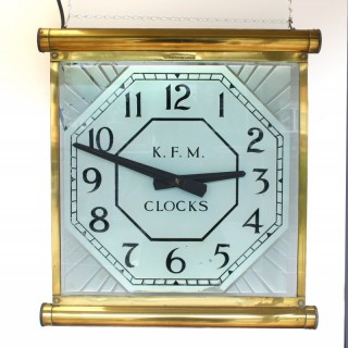 "KFM Glass wall Clock with ""Internalite"" striplights"