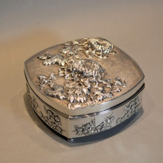 HIGH QUALITY CHINESE SILVER LIDDED BOX BY WAN-HING
