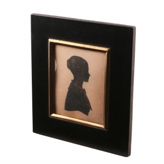 Silhouette of a Young Lady