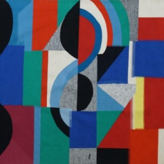 Signed rare monumental tapestry of Sonia Delaunay -