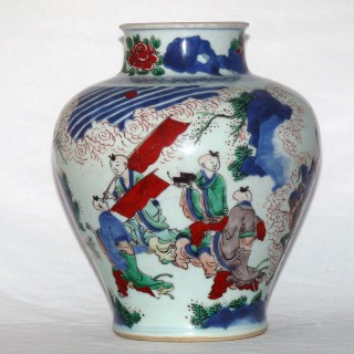 Transitional - Shunzhi - Wucai Jar