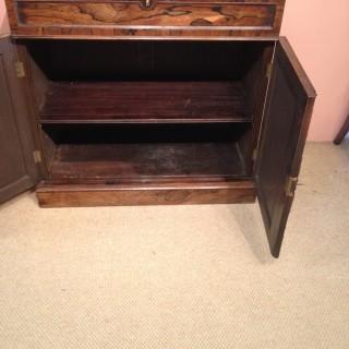 William IV secretaire bookcase.