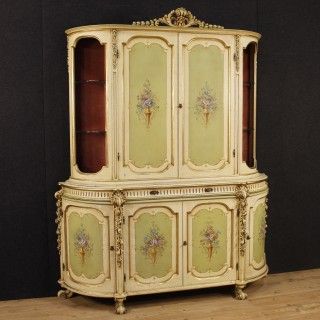 20th Century Italian Lacquered, Painted, And Golden Cupboard