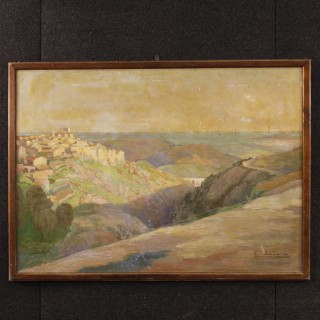 20th Century French Signed Painting Depicting Landscape