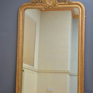 Large XIXth Century Giltwood Mirror