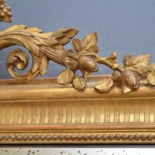 Large XIXth Century Giltwood Mirror
