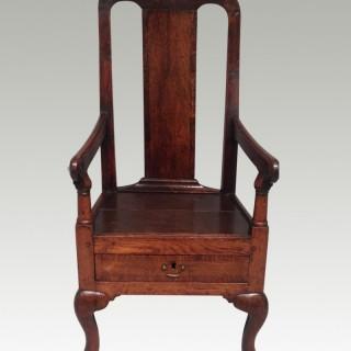 Queen Anne oak child's chair.