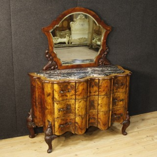 20th Century Italian Chest Of Drawers With Mirror